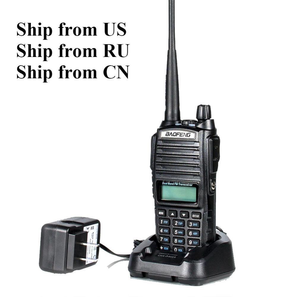 Ship from US/RU! two way radio 8W BAOFENG UV-82-8W 136-174&400-520MHz dual band Handheld FM Transceiver Radio walkie talkie(China (Mainland))