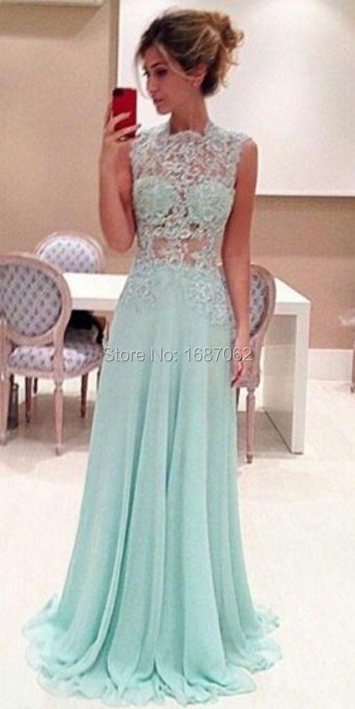 Light blue prom dress long
