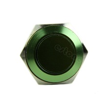 New Green AC 250V 3A 16mm Momentary Stainless Steel Metal Push Button Switch(China (Mainland))