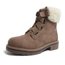 CAILASTE 2019 yeni kış Kadın yürüyüş martin ayakkabı elastik bant yün karışımı sıcak kürk yarım çizmeler kar ayakkabıları açık kaymaz(China)