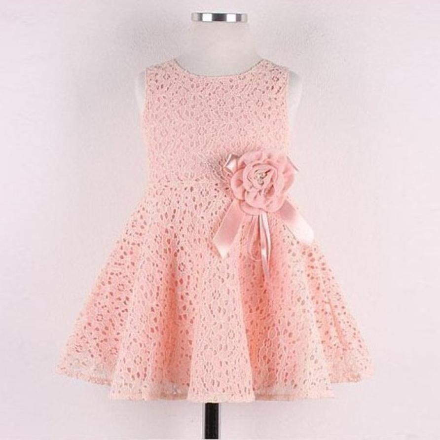 1PC Girls Dress Kids Full Lace Floral One Piece Dress Child Princess Party Dress Roupas Infantis Menina #2315