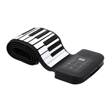 Portable 88 Keys Piano Silicone Flexible Roll Up Piano Foldable Keyboard Hand-rolling Piano with Battery Sustain Pedal US Plug(China (Mainland))