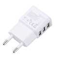 Charger for Phone Charger5V 2A EU 3 USB Charger Plug USB Power Adapter Wall Charger For