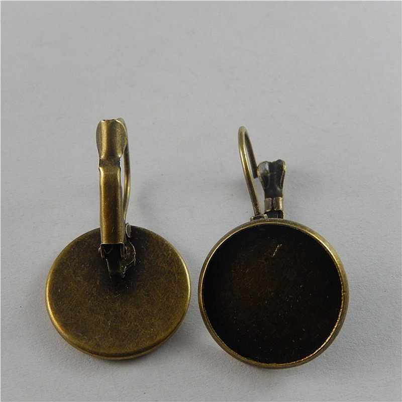 10PCS/Pack Iron Antique Bronze Earring Jackets Earrings (18mm ) Jewelry Accessory 30*19mm 50777(China (Mainland))