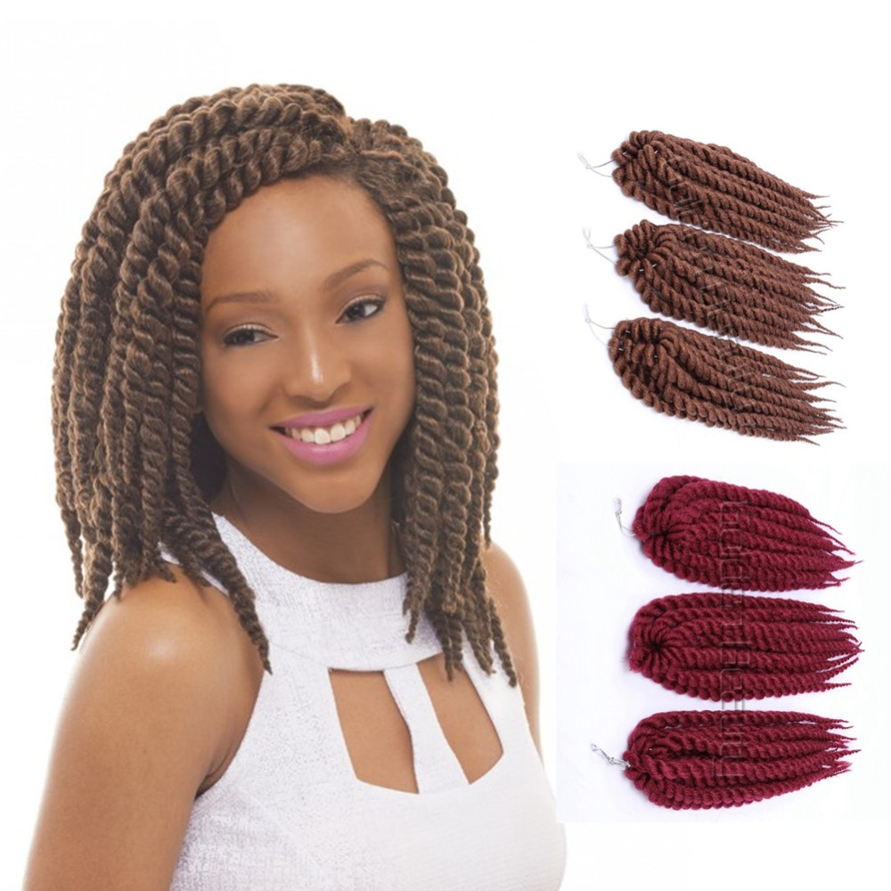 Mambo Ombre Twist Crochet Braids Hair 12 Inch Long Marley Braid ...