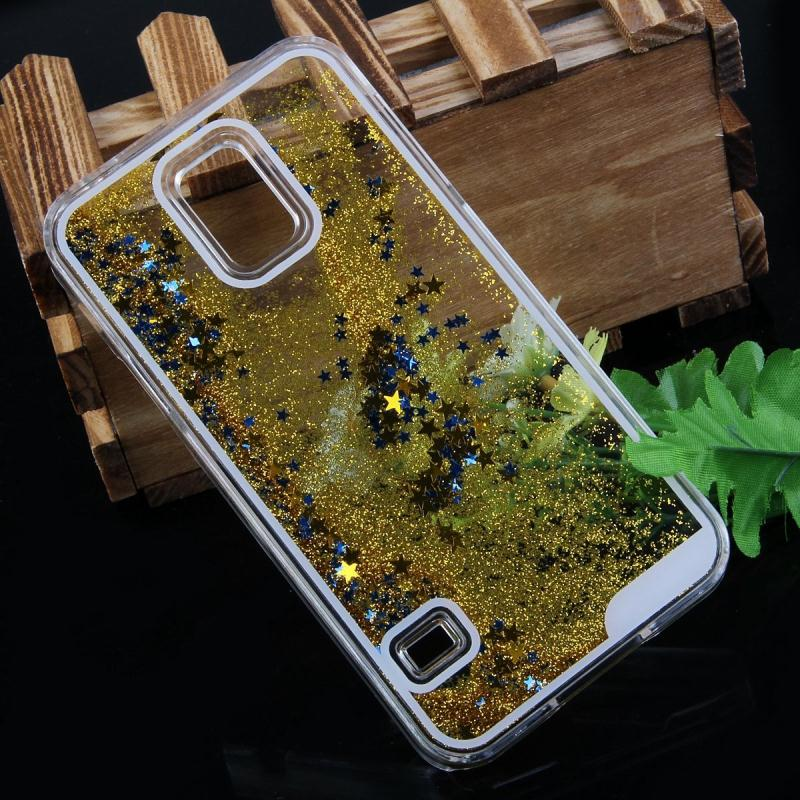 New Fashion Bling Liquid Glitter Sand Star Case Fundas For Samsung Galaxy S5 Crystal Clear phone Back Cover Coque S5 Housing