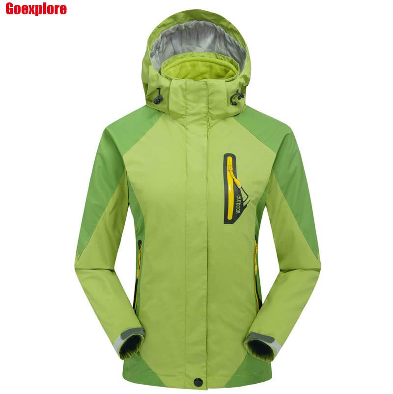Фотография Dropshipping Outdoor snow ski Jackets women Waterproof winter hiking Coats Camping Clothes Outwears jacket windproof women