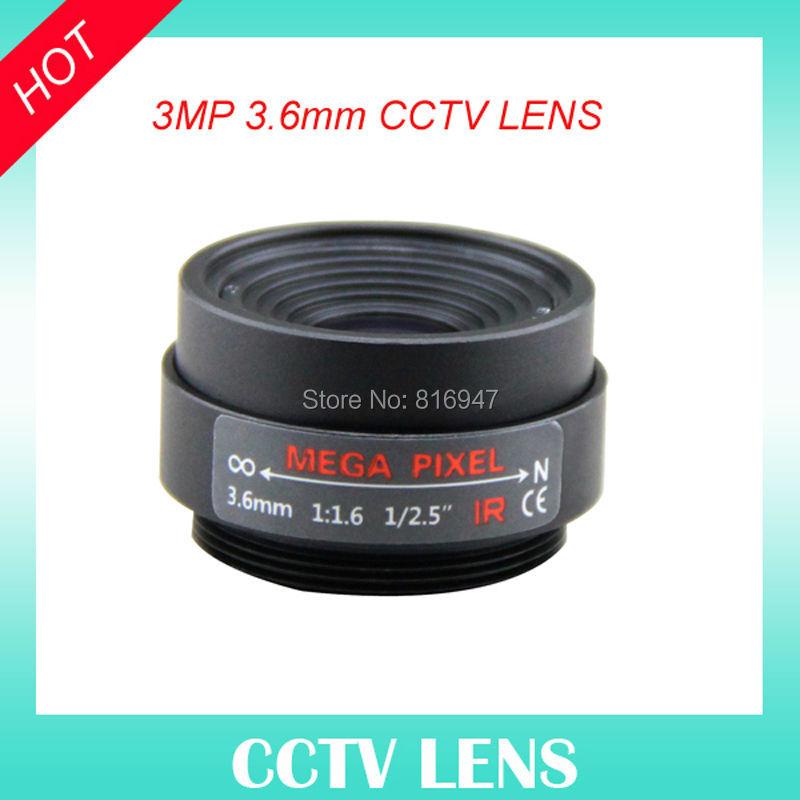 cctv ir correction lens 3.6mm 1/2.5 inch F1.6 Fixed Iris ip cameras ricom, CS mount lens, - Wellcam Lens store