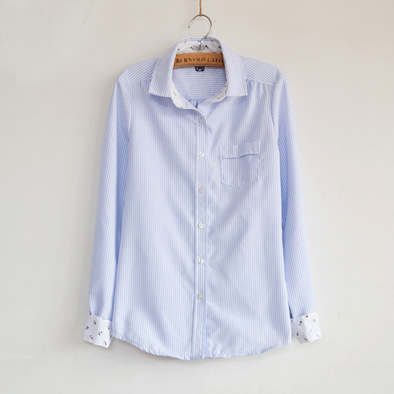 5858 New Arrival Fashion Navy Style Soft Cotton Shirts