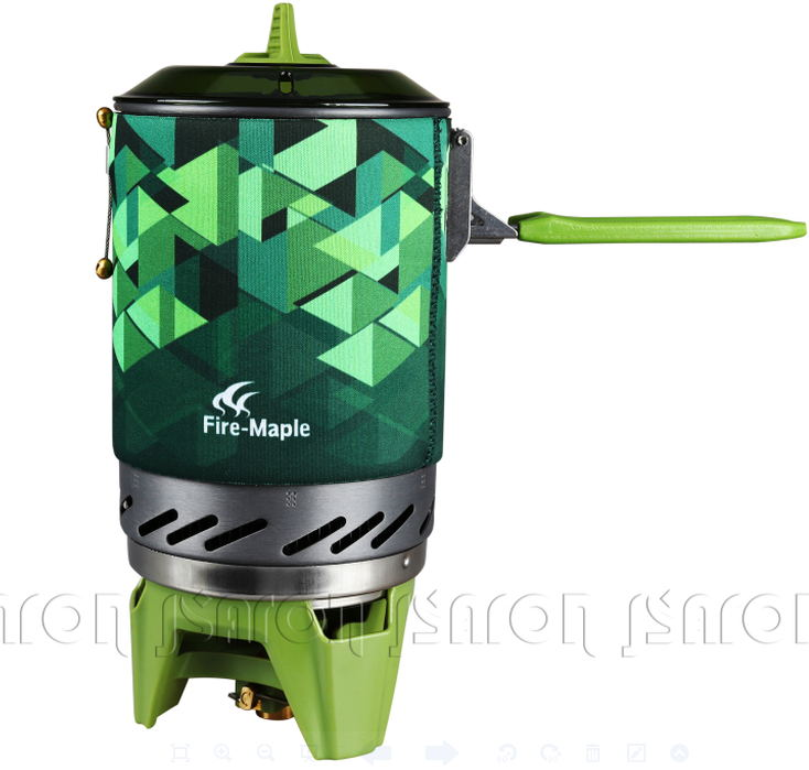 Top quality Outdoor One-Piece Camping Stove Fire Maple X2 Kitchen Stove Heat Exchanger Pot 1.0L Cooking Stove Fire Maple FMS-X2(China (Mainland))