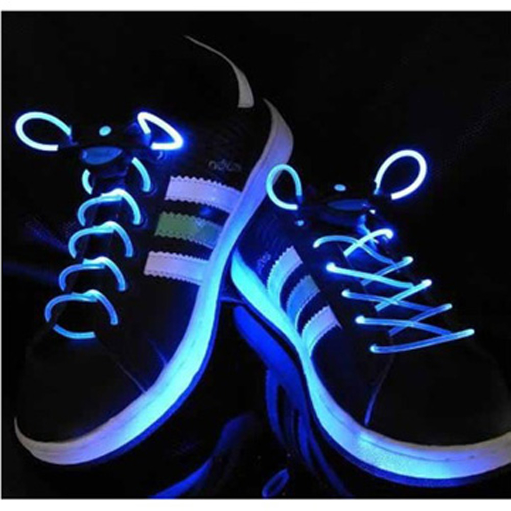 USA Delivery Cool Shine Hip-hop Dancing Led Light Up Flashing Glowing Shoelaces Laces flash(China (Mainland))