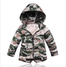 Boys jackets down jacket Outerwear Coat children girls winter down coats jackets kids Outwear clothing camouflage uniform coats