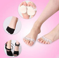2Pc Sock Open toed Foot Boat Slip Socks Toe Socks Arch Support Socks Pain Relief No