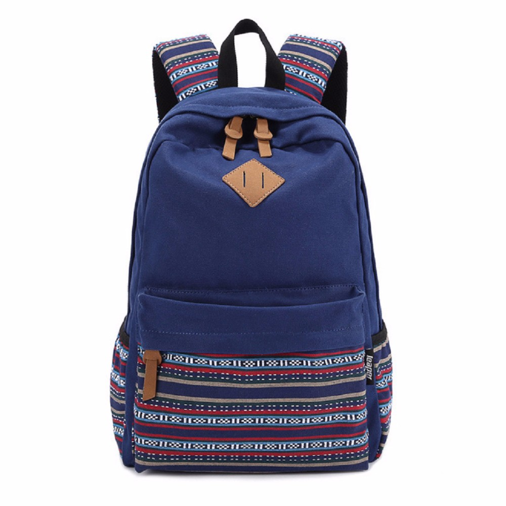 Korean style women bookbags canvas printing bagpack cute school bags backpacks for teenage girls mochila escolar feminina