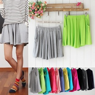 Summer candy color casual modal expansion bottom plus size mm safety pants skirt - Style Of Your Life store