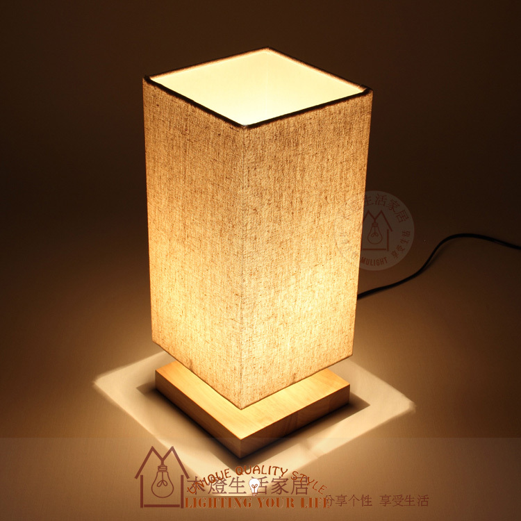 Table Lamp Wooden Base Images
