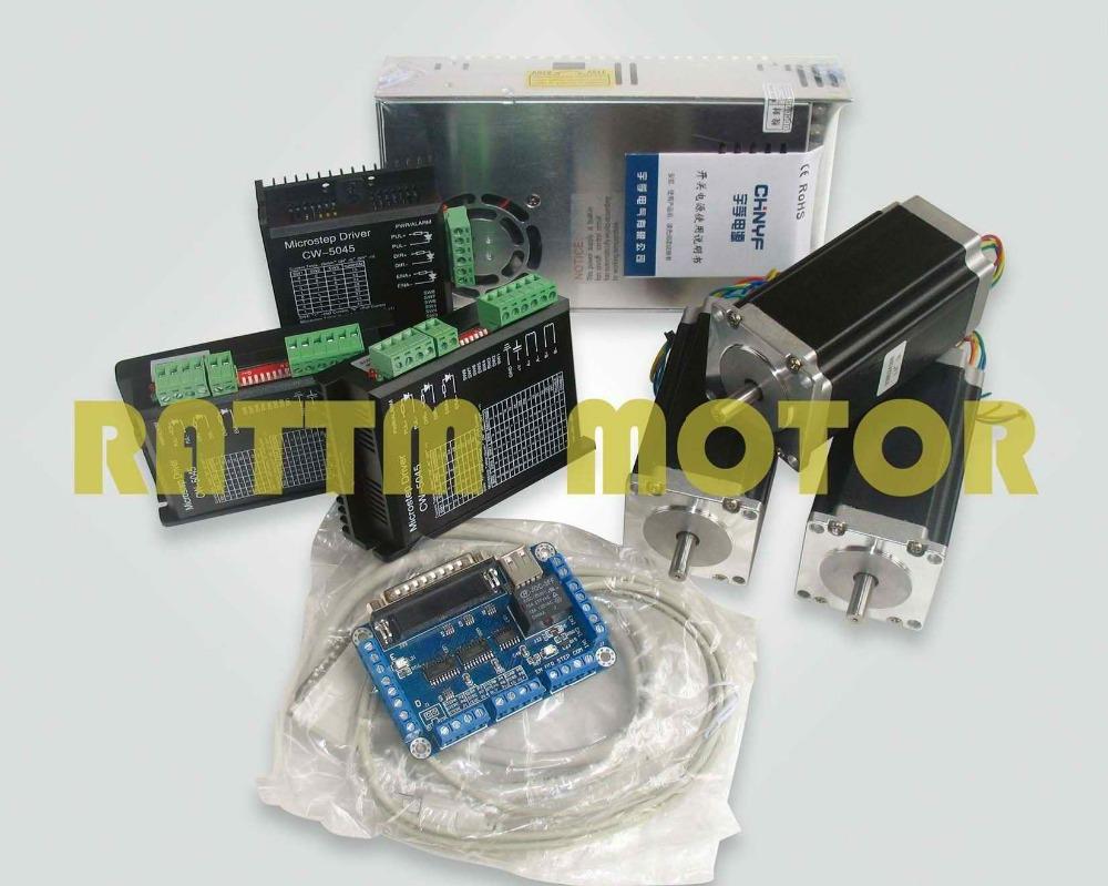 3 axis cnc controller kit nema23 425 oz in steppermotor for 3 axis nema 23 stepper motor driver controller cnc kit