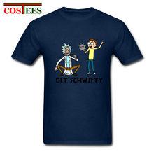 Nuevo estilo Punk camiseta ricka y morty camiseta Geek camiseta diseño Original a schwifty rick y morty cosplay traje de camiseta camisa(China)