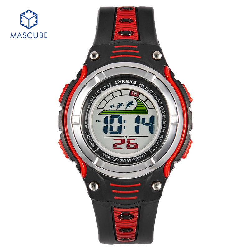 [MASCUBE]Children Sports Digital Watches Multifunctional Wristwatches Stopwatch 30M Waterproof With Alarm Calendar Luminous<br><br>Aliexpress