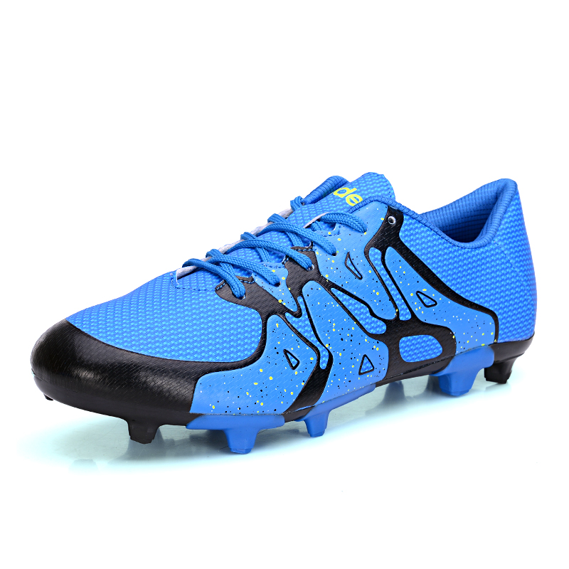 Size 32~44 New Men Boy Kids Soccer Football Shoes Cleats AG Soccer Shoes Brand Outdoors Lawn Soccers Sneakers 6 Color NX861(China (Mainland))