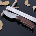 Hot New Buck 076 Stainless Steel 7CR17MOV 58HRC Fixed Blade Camping Hunting Knife