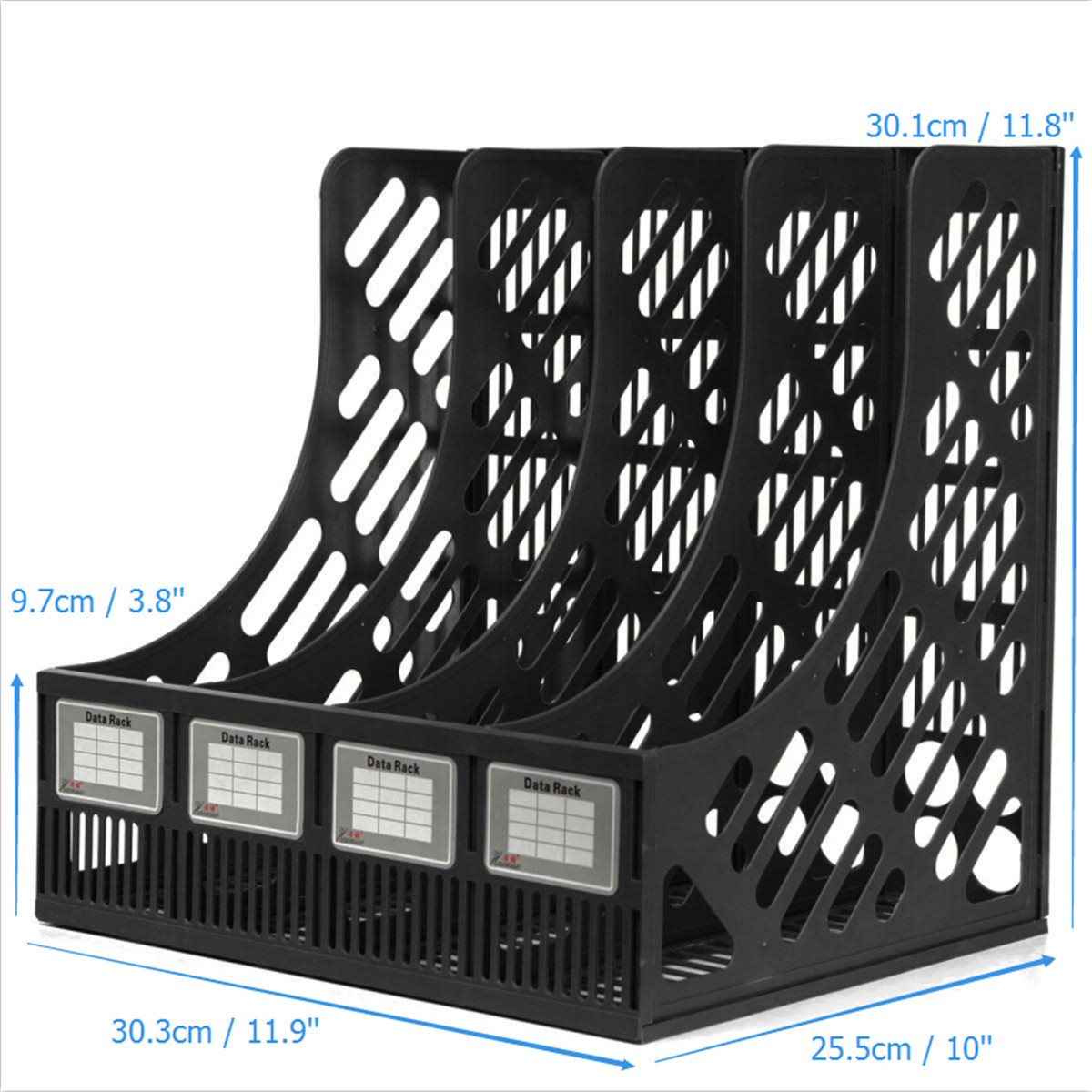 4 Section Divider File Rack Paper Magazine Holder Multifunction Storage Hanger Home Office Desktop Book Box Plastic Bookshelf(China (Mainland))