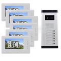 DIYSECUR 7 4 Wired Apartment Video Door Phone Audio Visual Intercom Entry System IR Camera For