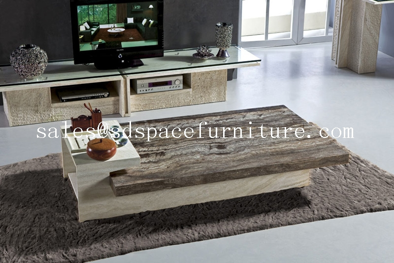 Unique coffee table travertine coffee table high end for High end coffee table