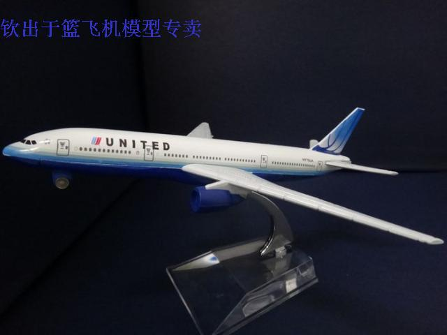16cm United Airlines Boeing B777 aircraft model Simulation airplane model Metal airlines plane model,Souvenir Toy,Christmas gift(China (Mainland))