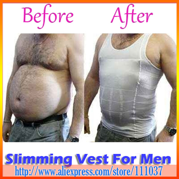 Fashion Men Slimming Vest With Opp Bag Package 150pcs/Lot Free Shipping