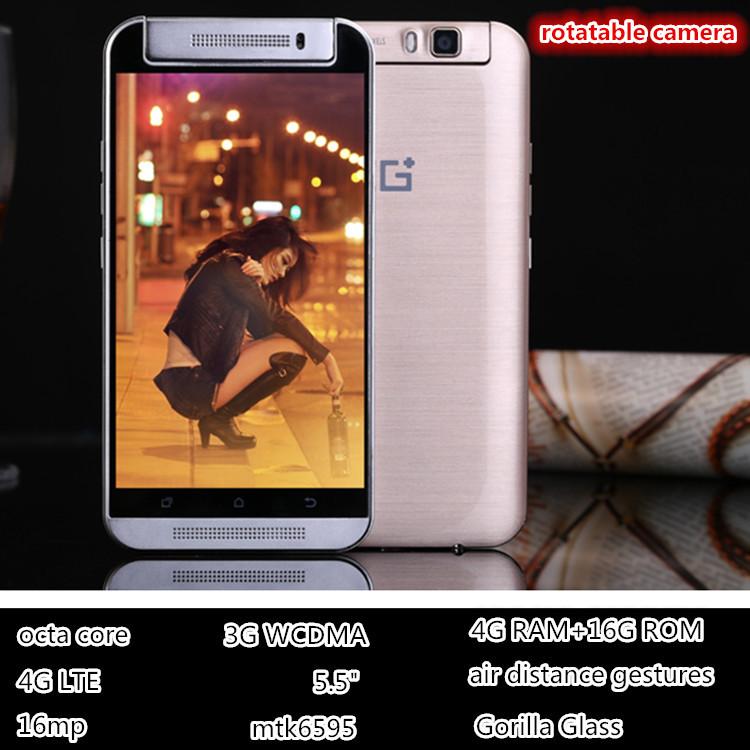 "Original Smartphone 4G LTE one M8 MTK6595 Octa Core 5.5"" 4GB RAM Dual Sim 16.0MP Camera android cell Mobile Phones Gorilla Glass(China (Mainland))"