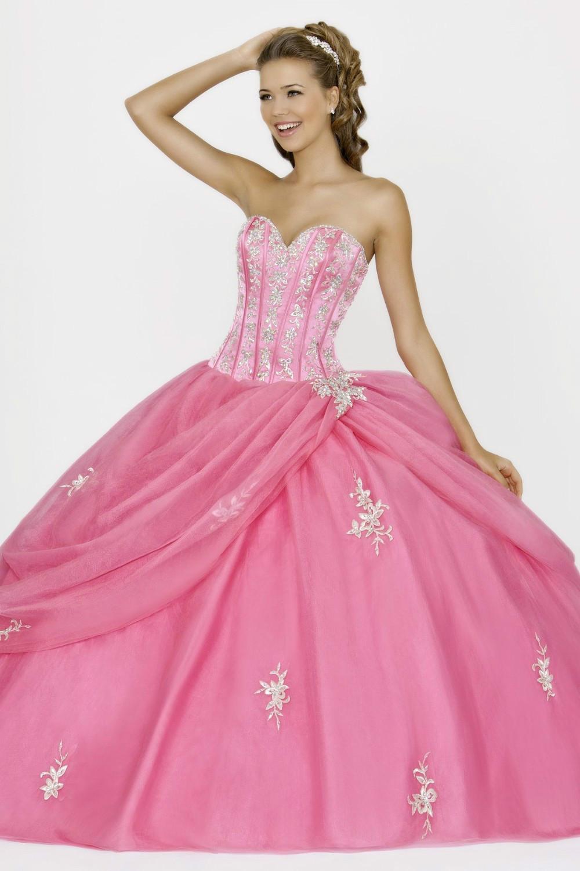 Appliqued Sweetheart Elegant Ball Gown Peach Quinceanera Dresses Fashion 2015 Vestidos De 15 Anos Debutante Gowns B-48 - StoryBridal store