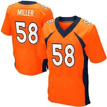 Men's #58 Von Miller Jerseys Adult #18 Peyton Manning #12 Paxton Lynch #88 Eemaryius Thomas Navy Blue Orange Elite 100% Stitched(China (Mainland))