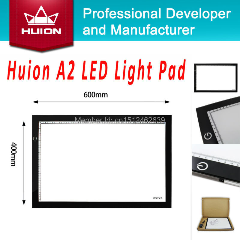 Huion A2 LED Tracing Boards High Quality Ultra Thin Light Pad Professional Animation Tatoo Tracing Light Boxes Brand New Black(China (Mainland))