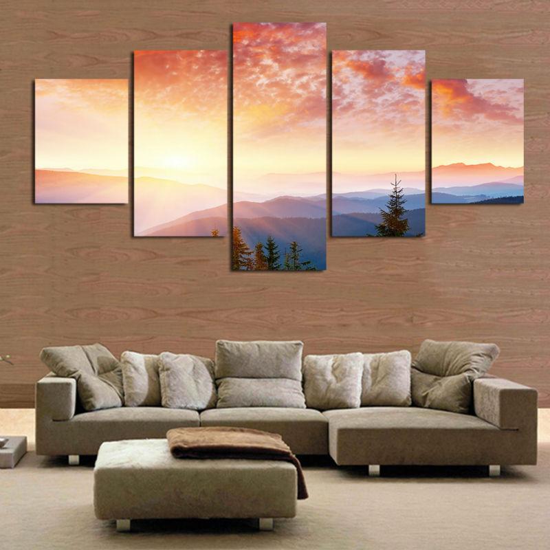 achetez en gros coucher du soleil toile peinture en ligne des grossistes coucher du soleil. Black Bedroom Furniture Sets. Home Design Ideas