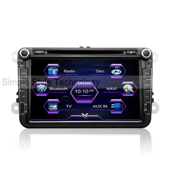 VW Passat B5 Car DVD Player, built-in GPS Navigation,2 din 8 inch car DVD.Free shipping