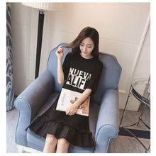 Sd331 maternity clothes spring summer Maternity clothes pregnancy casual maternity dress letter short sleeve dress women dress