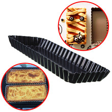 DIY Rectangle Pie Tart Pan Cake Mold Removable Loose Bottom Nonstick Bread Loaf Baking Mould Oven Toast  Kitchen Tool Craft(China (Mainland))