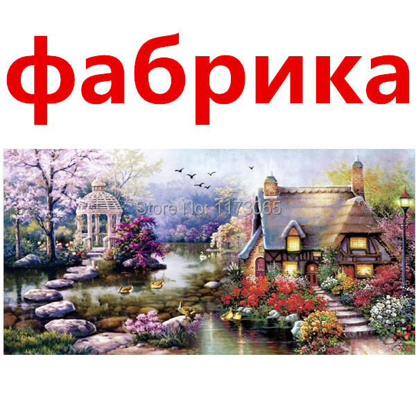 Needlework,DIY DMC Cross stitch,Sets For Embroidery kits,small house garden home decro Counted Cross-Stitch,factory direct sale(China (Mainland))