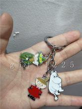 Lote hipopótamo Dos Desenhos Animados Japoneses anime bruxa bonito Keychain Acessórios Chave Cadeias de Jóias Pingente de Presentes Favores(China)