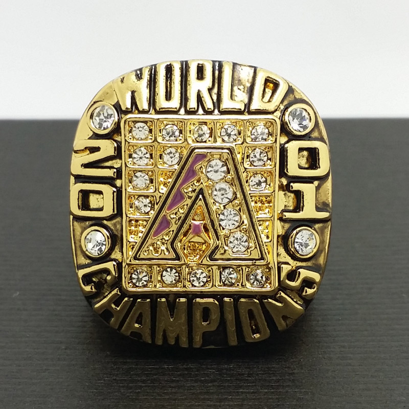 2001 Arizona Diamondbacks MLB World Series Championship Alloy Ring 11 Size 'Colangeld' Fans Gift Collection - ring store