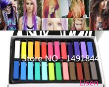 24 Colors/set Fashion Hair Chalk Fashion Color Hair Chalk Dye Pastels Temporary Pastel Hair Extension Dye Chalk Hot Crayons(China (Mainland))