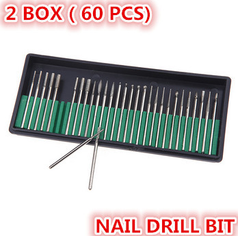 2 box professional nail drill bit kit manicure pen set accessory pedicure nail art equipment drill head parts(China (Mainland))