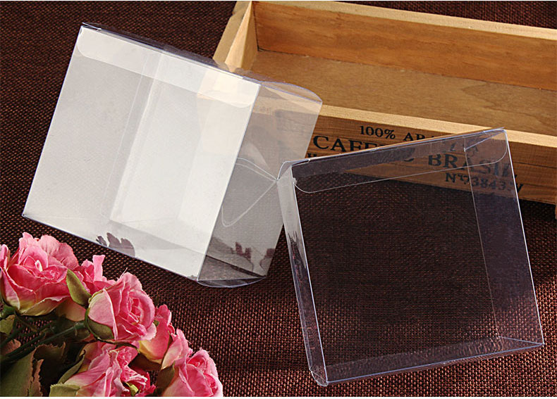50pcs 9*9*9cm Transparent waterproof PVC boxes Packaging small plastic Clear box storage for food/jewelry/Candy/Gift/cosmetics(China (Mainland))