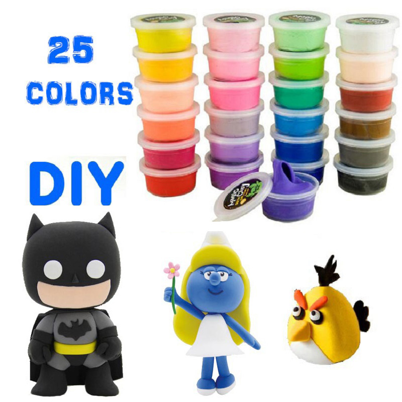 23g/Box Air Drying DIY Malleable Fimo Polymer Modeling Plastic box Clay Soft Blocks Plasticine clay playdoh dough play-doh toys(China (Mainland))