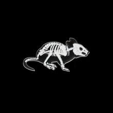 6 Gaya Hewan Kerangka Acrylic Pin Kucing Kelinci Babi Penguin Burung Rat Bros Lencana Kerah Pin Pakaian Tas Hadiah Perhiasan untuk Teman(China)