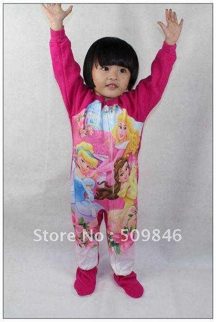 girl sleeping wear kids conjoined pajamas baby cartoon cloth
