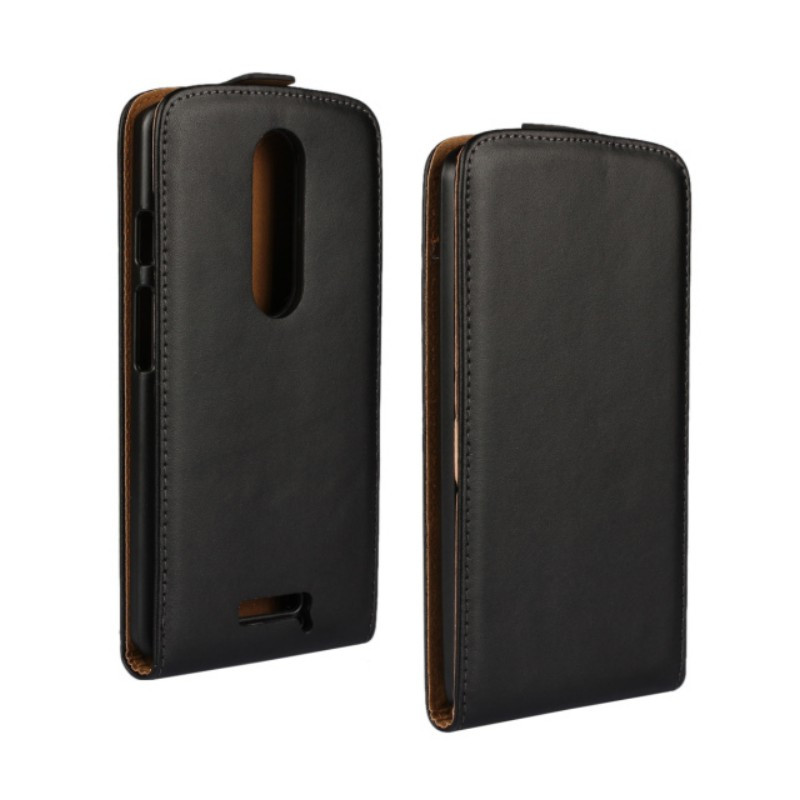 10PCS Cool Black Color Genuine Leather Stand Flip Pouch Protective Cover Case for Motorola Moto X Force XT1580 Phone Bags