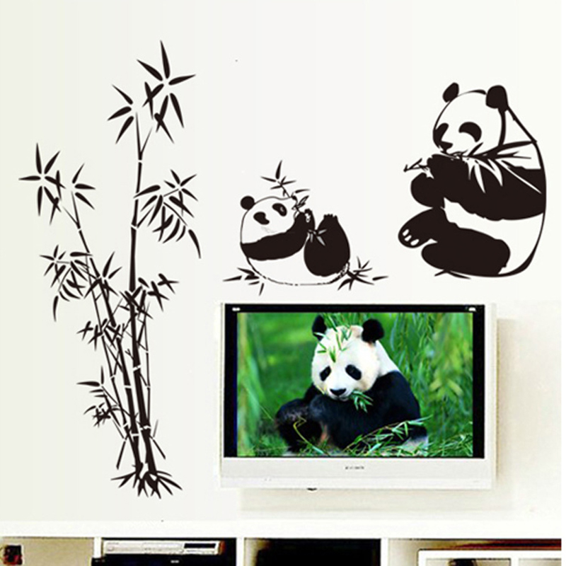 panda wall sticker achetez des lots 224 petit prix panda 3pcs removable panda wall stickers home wall decals switch