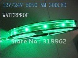wholesale 12V/24V 5050 SMD 60led/m Flexible Light led strip lights waterproof IP65 100M/lot,